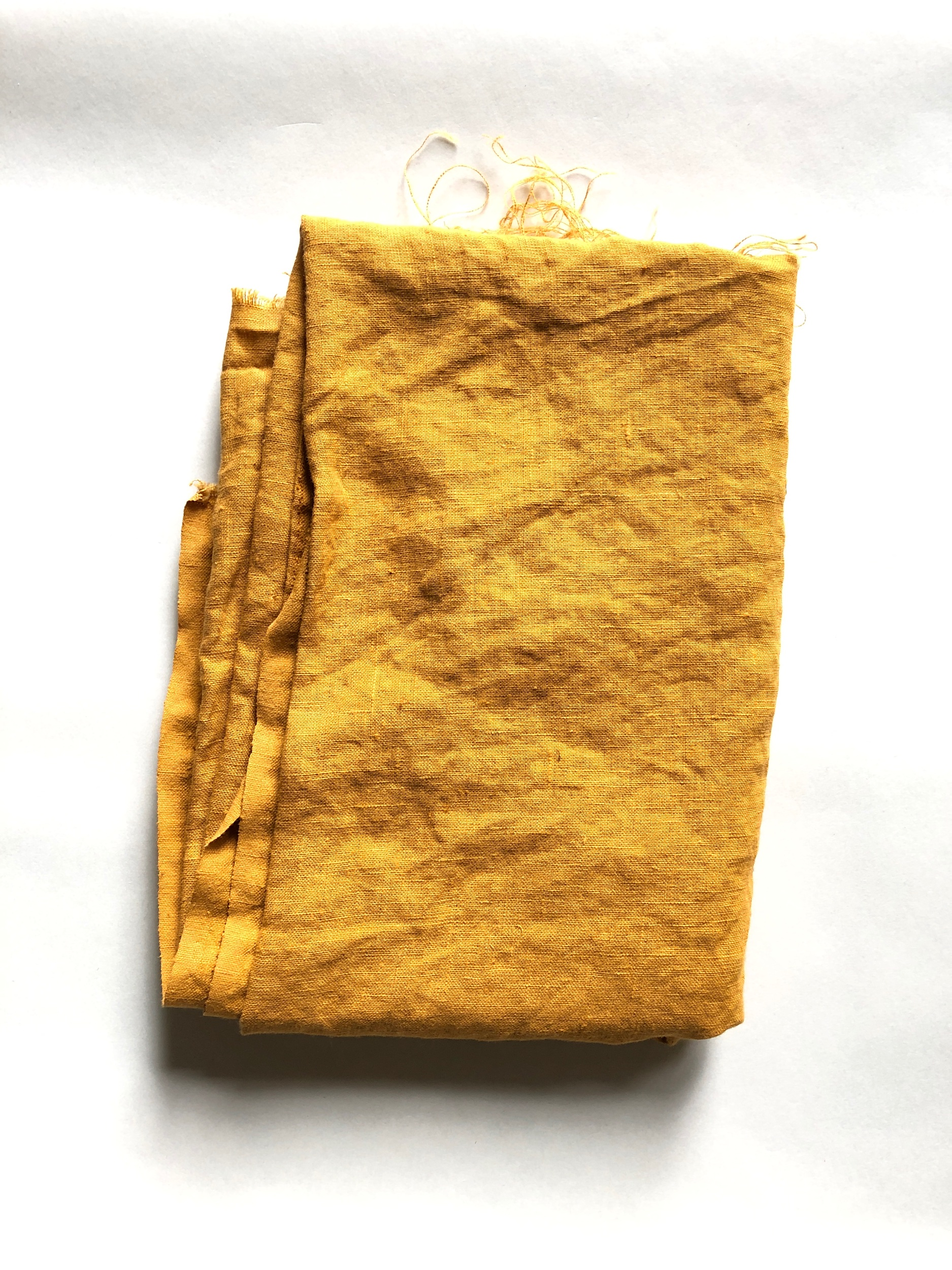 206 golden orange linen