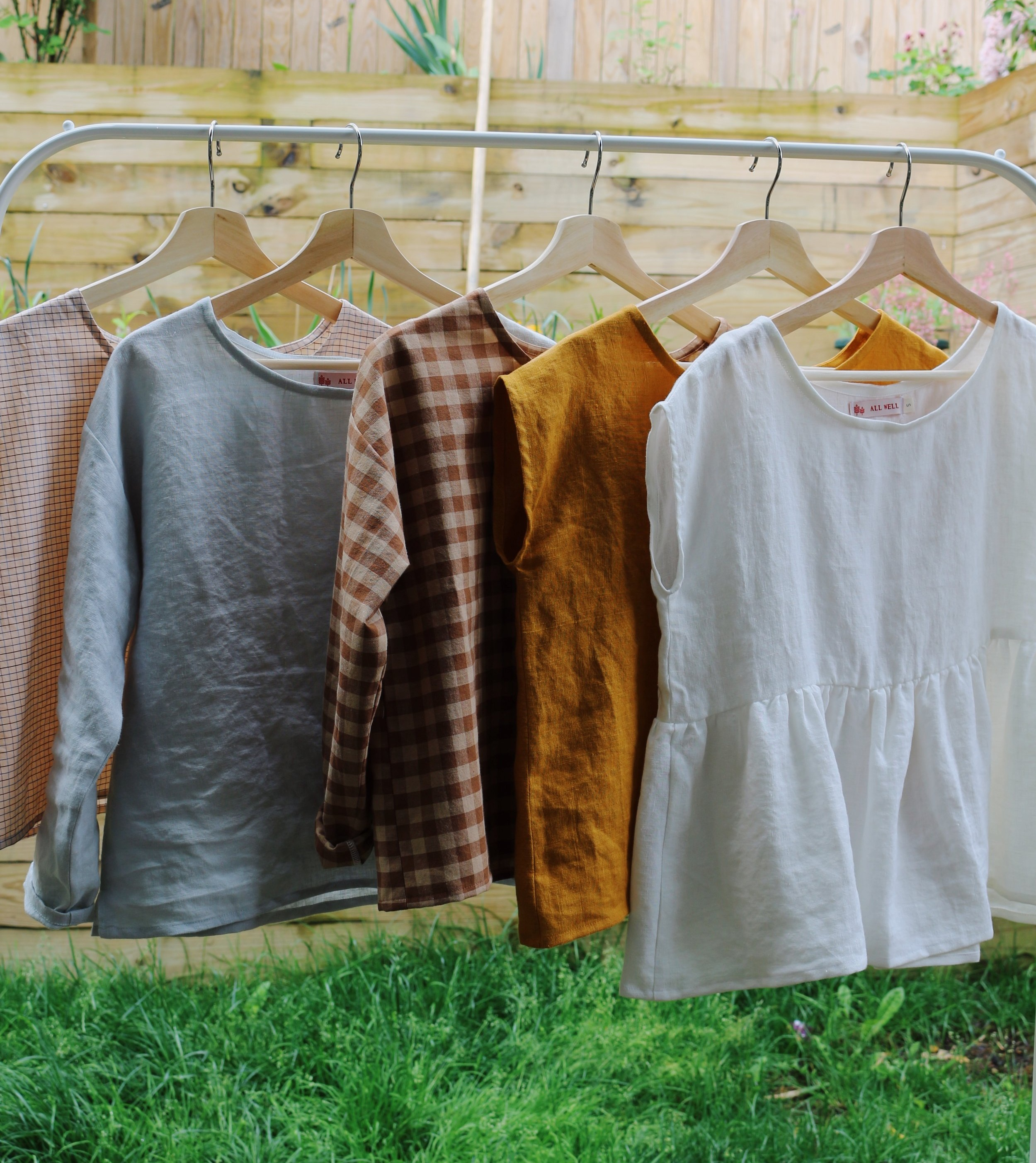 """Sew your own slow fashion staples. - Introducing the All Well Box Top sewing pattern. In four variations, for bust circumference 32-62"""" (81-157 cm)."""