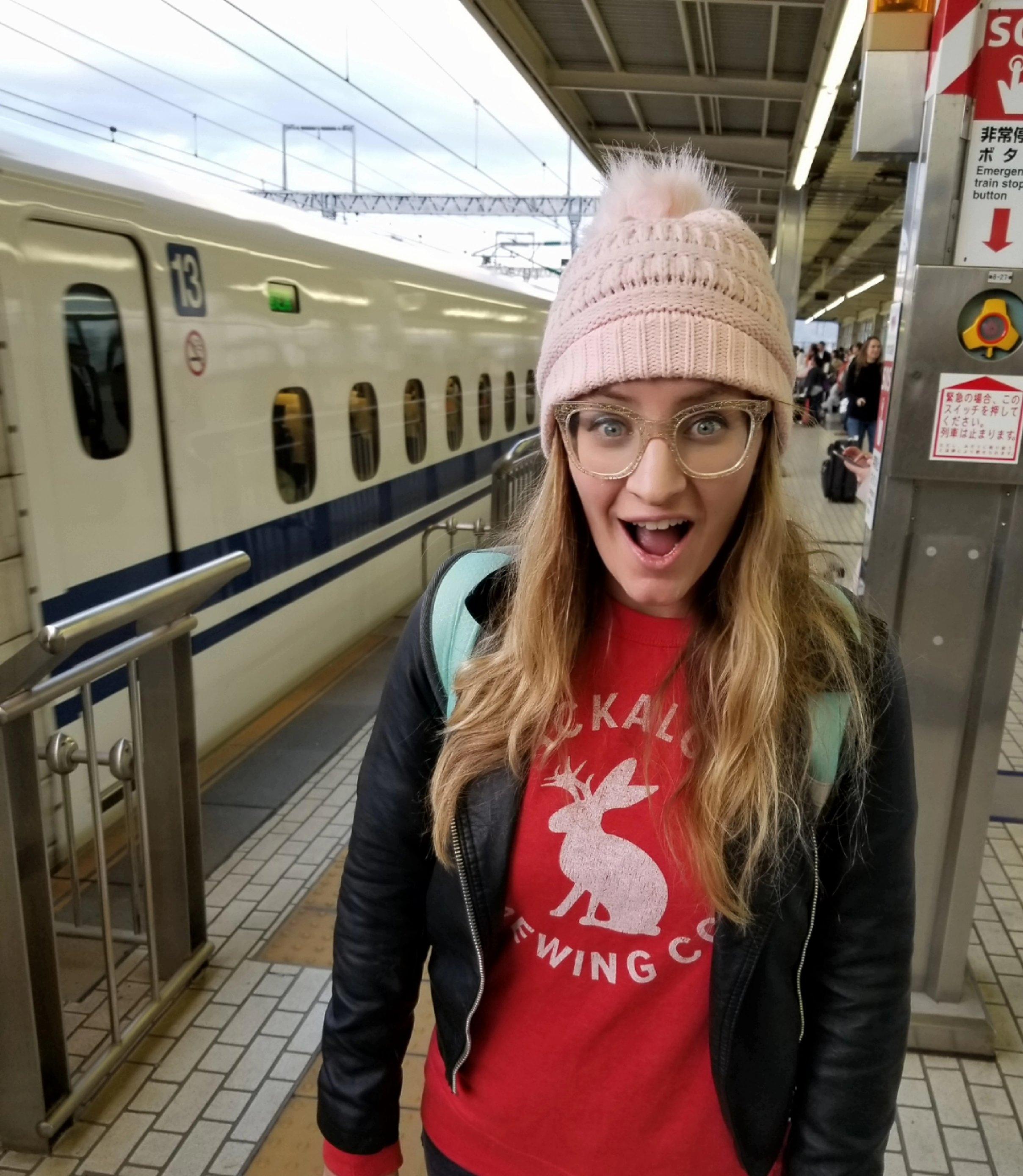 uprooted-traveler-bullet-train-Shinkansen-vegan-guide-kyoto