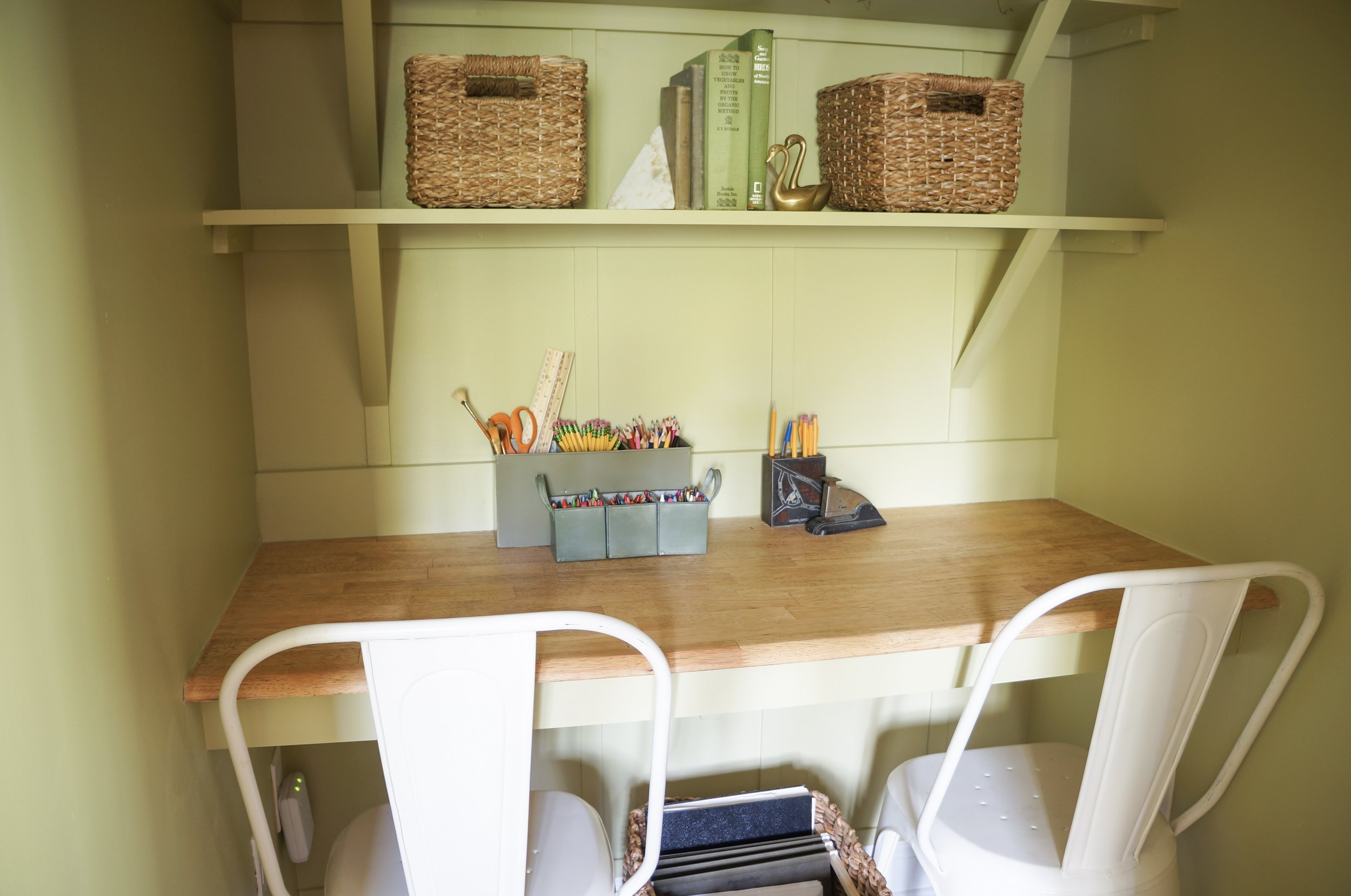 Baskets are the perfect storage solution for this space!