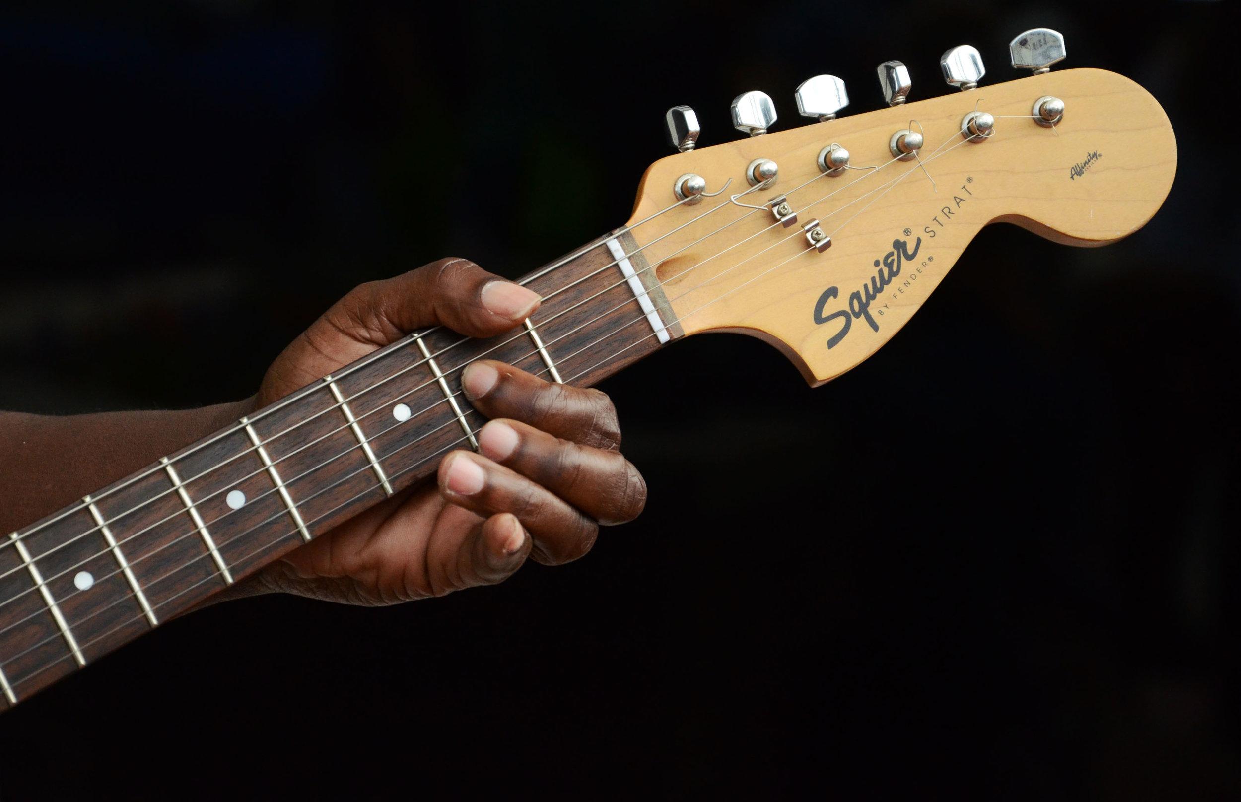 Michael's guitar.