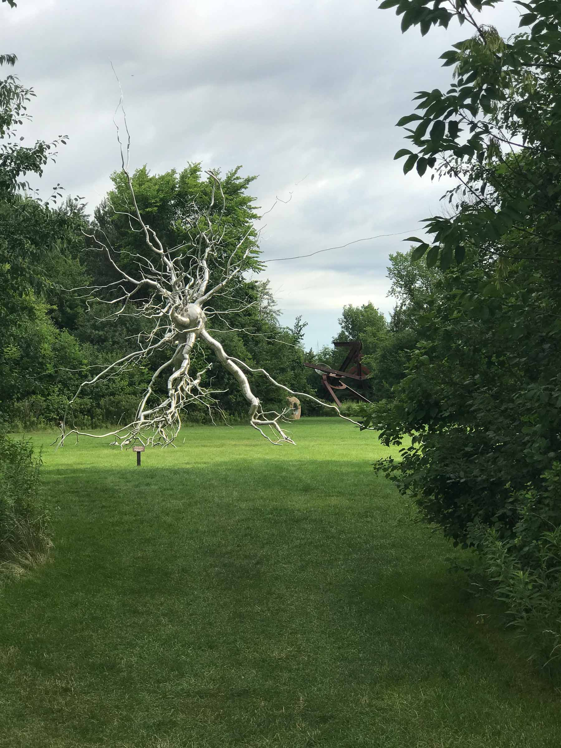 "Roxy Paine's ""Neurons"" at Meijer Gardens"
