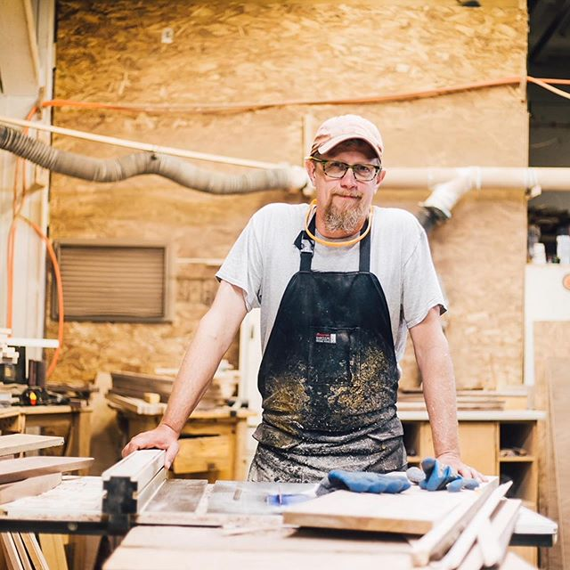 "We sat down with artist Steve Uren, who creates everything from table and dressers to cutting boards, to clocks on the walls, to entire bedroom sets, all with lots of inlaid wood design created from Michigan wood. In this conversation, we learn about the process of inlay in woodworking and where Steve finds his inspiration and the role design plays in his decisions. ""Function is secondary in everything I make,"" says Steve. He calls his shelves ""sculptural shelves,"" and his shelves and other works are all one of a kind.  Click the link in our bio to listen to the episode!  #podcast #grgram #grandrapids #madeinmichigan #steveuren #woodworking"