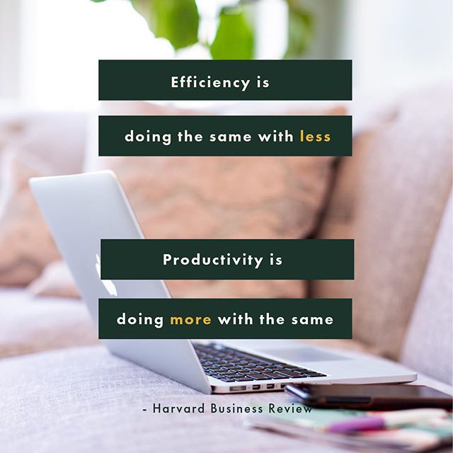 Productivity and Efficiency are not the same thing. Which does your growing business need more? . . . . . . #startups #scale #operations #smallbusiness #process #bossbabesrva #mastersofscale #operationalexcellence #growyourbusiness #growingpains #entrepreneur #startupva