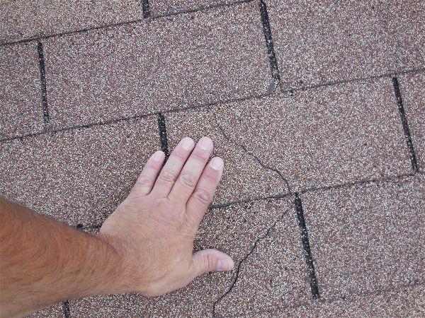 Cracks in shingles