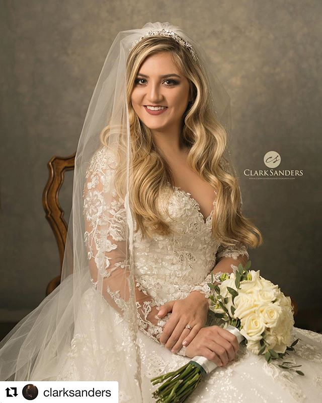 #Repost @clarksanders with @get_repost ・・・ Now that she's officially Mrs. Morgan Light, I can officially share a couple of her bridal portraits! Congratulations Mr. and Mrs. Jeremy Light! . . #clarksandersphotography #bridalportrait #portraitartist