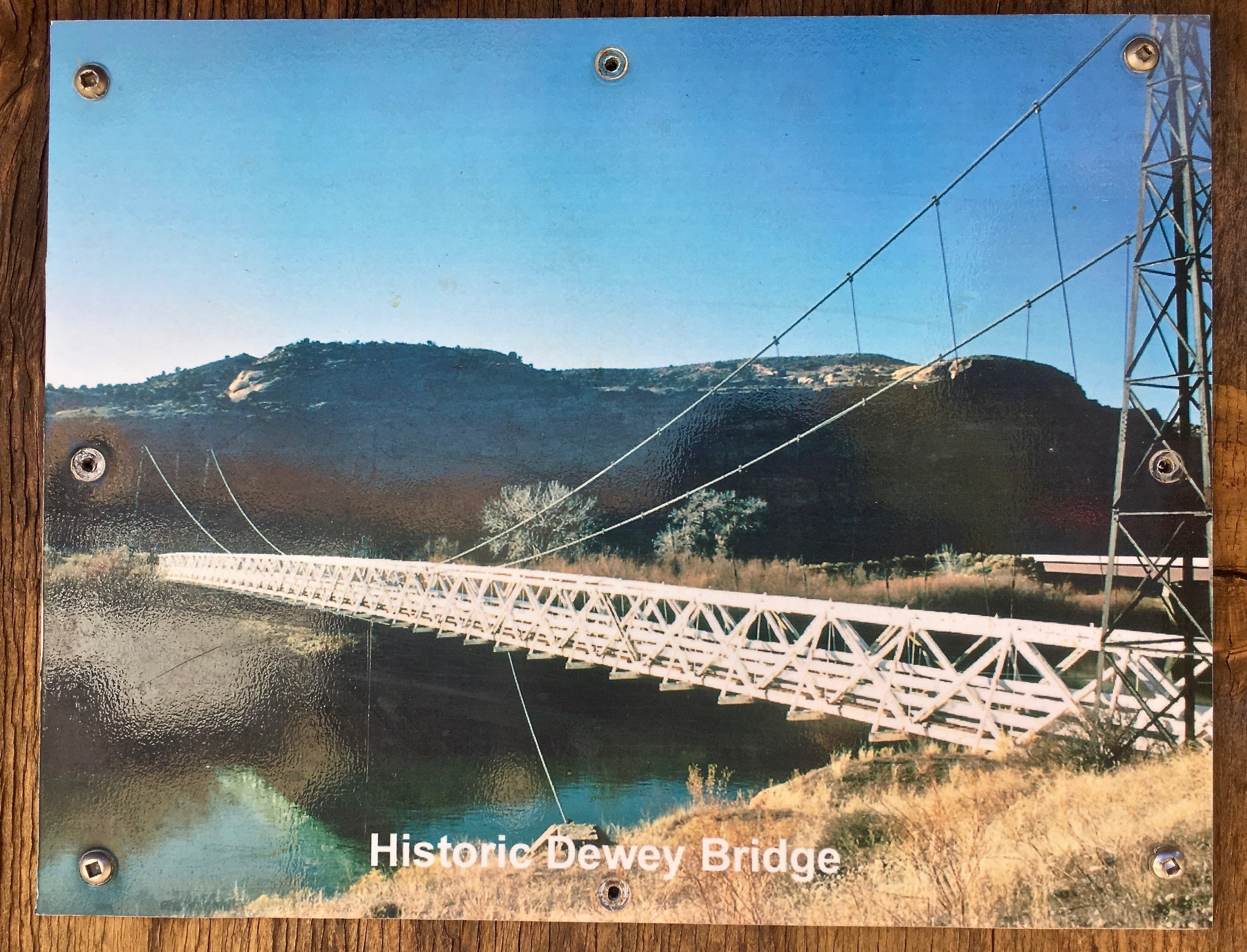 Dewey Bridge before it burned…