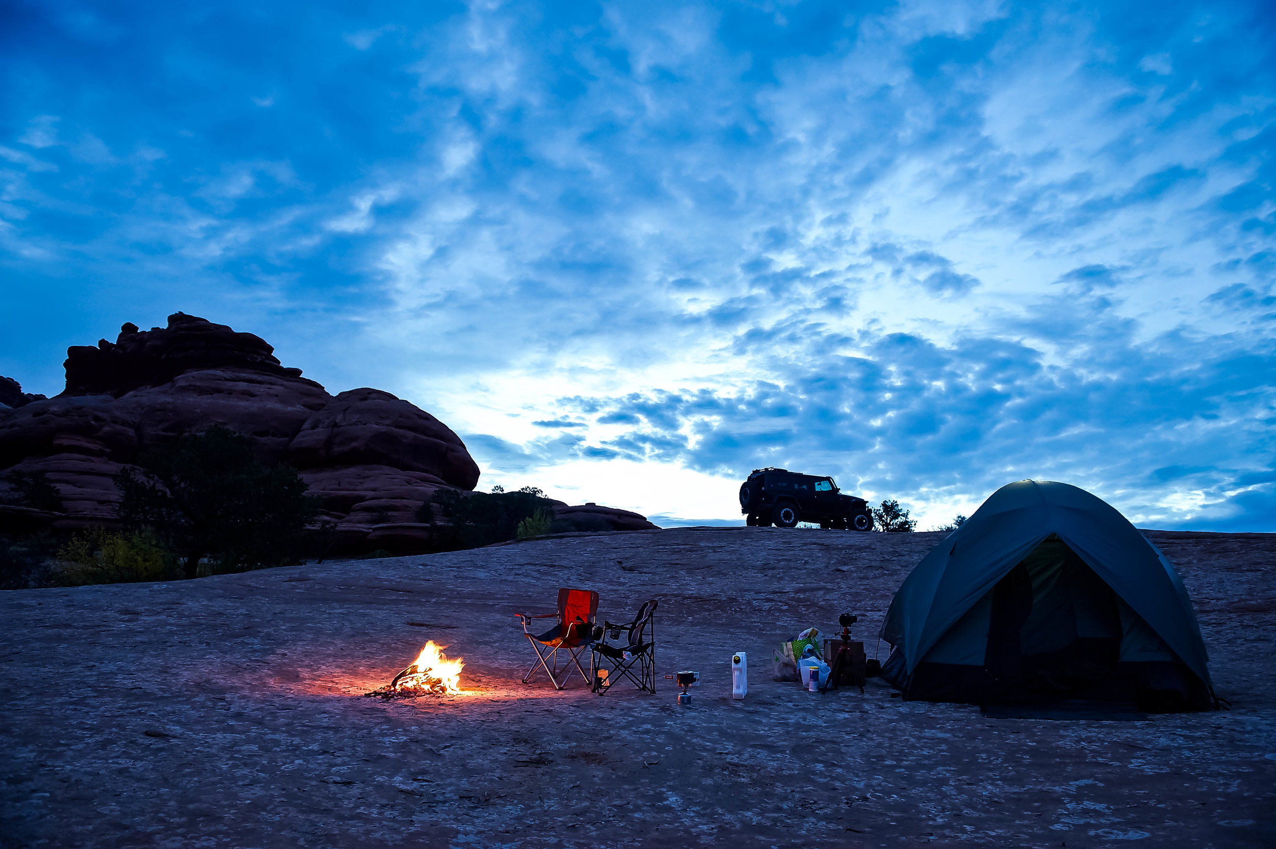 Pre-dawn camp, another adventure awaits…