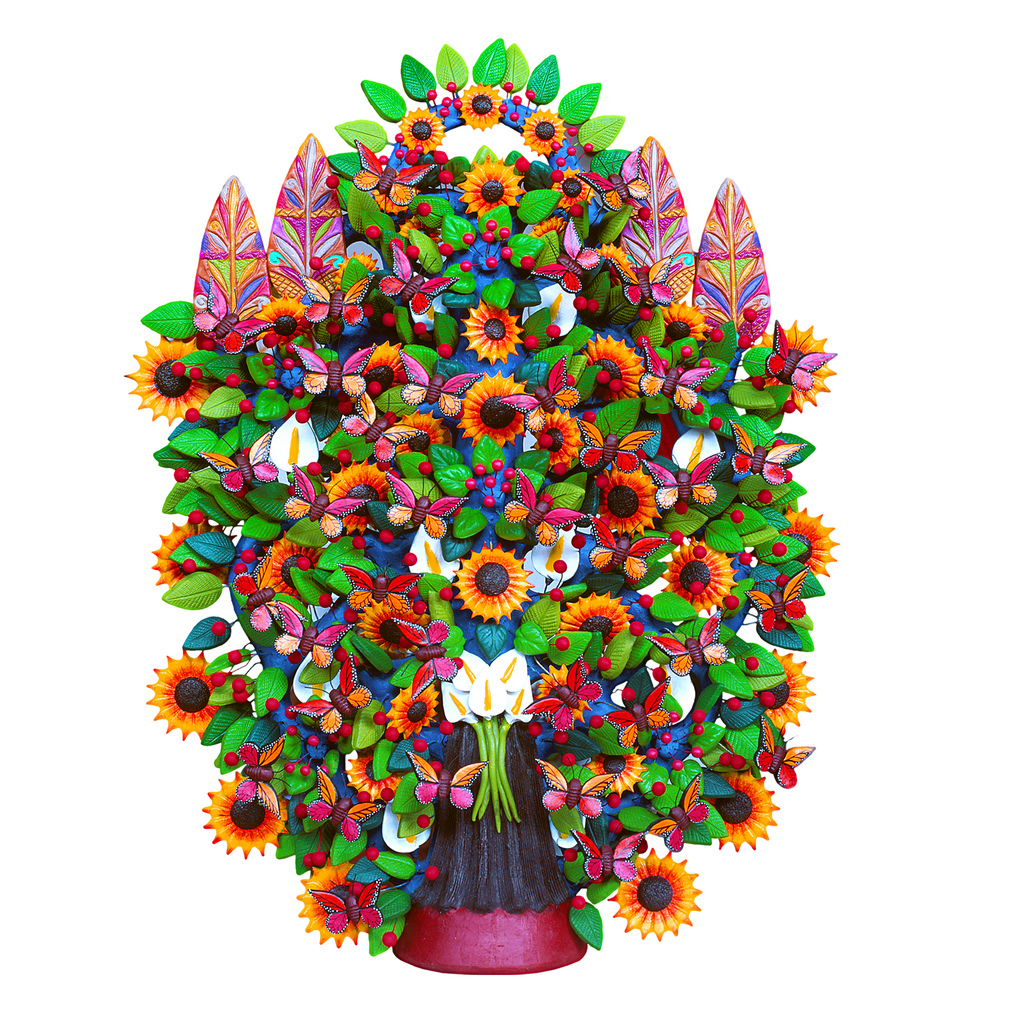 tree of life  - Árbol de la vida is a theme of clay sculpture created in central Mexico.