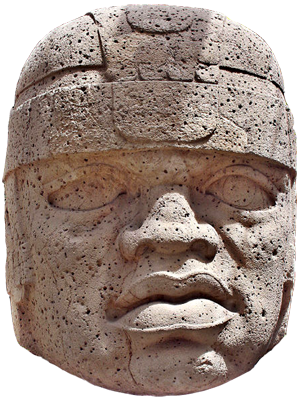 The Olmecs - The Olmec colossal headsare stone representations of human heads sculpted from large basaltboulders.