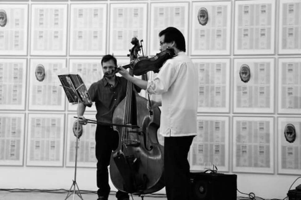 Eyvind Kang and guests, performing excerpts from works by Hanne Darboven. Swiss Institute, NY October 2013