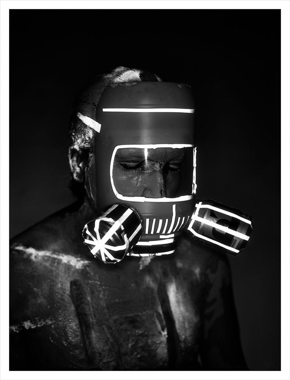 Rodrigo Valenzuela, Mask #7 , 2018,Archival pigment print mounted on Sintra,33.25 x 23 inches (framed). Image courtesy of the artist