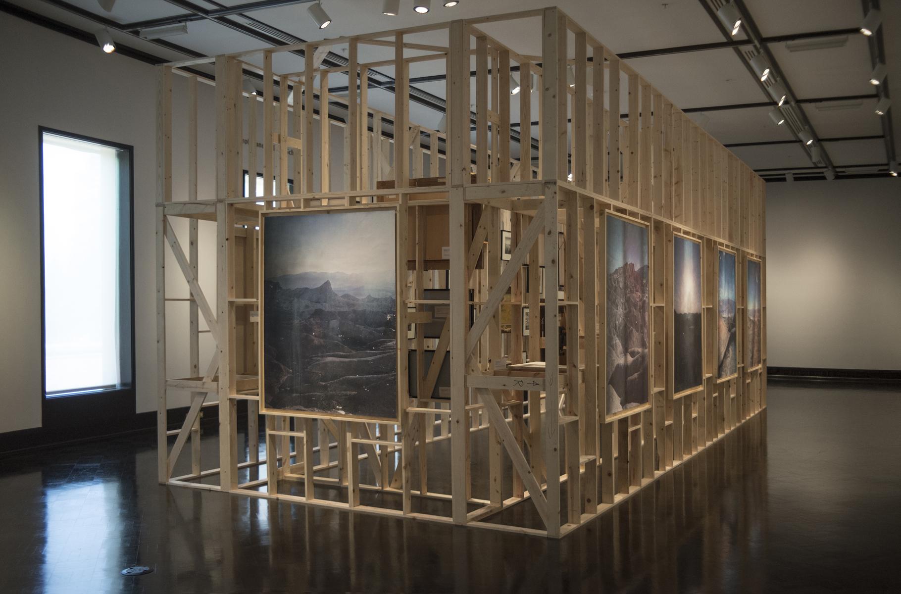 Rodrigo Valenzuela,installation view,  Work in its Place , Jordan Schnitzer Museum of Art, Eugene, OR. April 25, 2018-August 05, 2018.   Image courtesy of the artist.