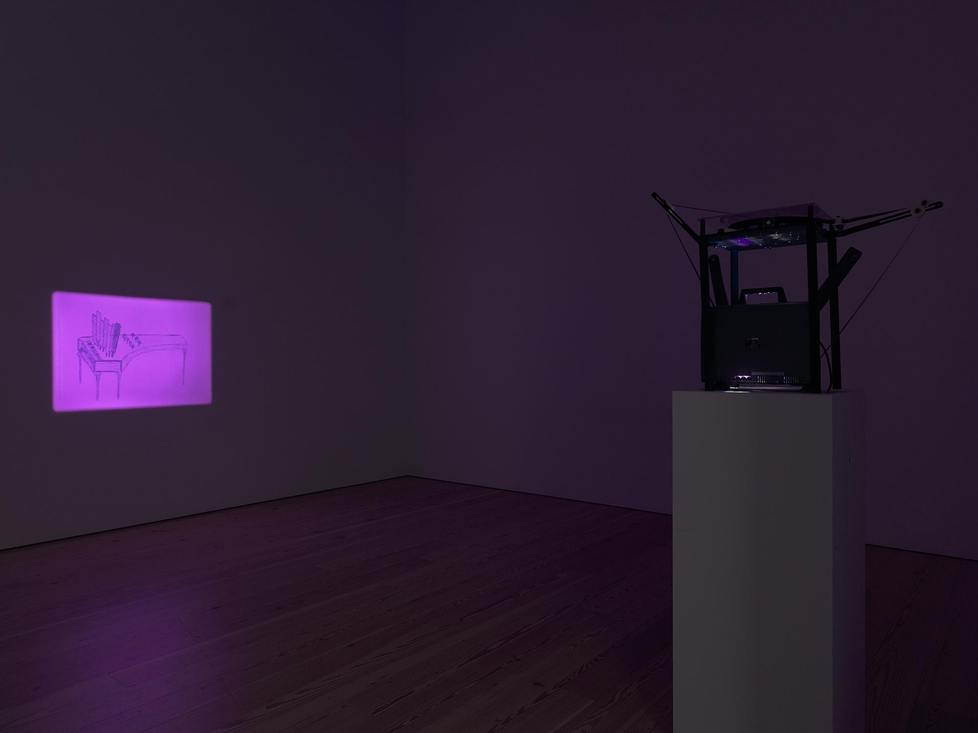 Jenny Perlin, Twilight Arc , 16mm film. installation view, Whitney Museum of American Art, New York 2017.