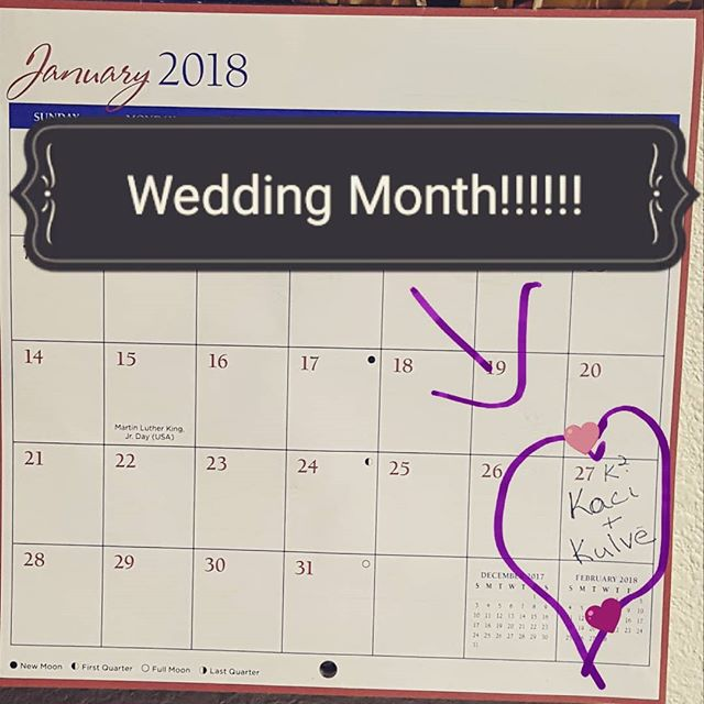 When calendars aren't you're thing except this one thing!!! I have a marriage certificate and a 3 week waiting period!!! Btw....these RSVP's are making my heart melt. Keep em coming!  #futurewifey #ksquared #marriage #lovemesomehim😍