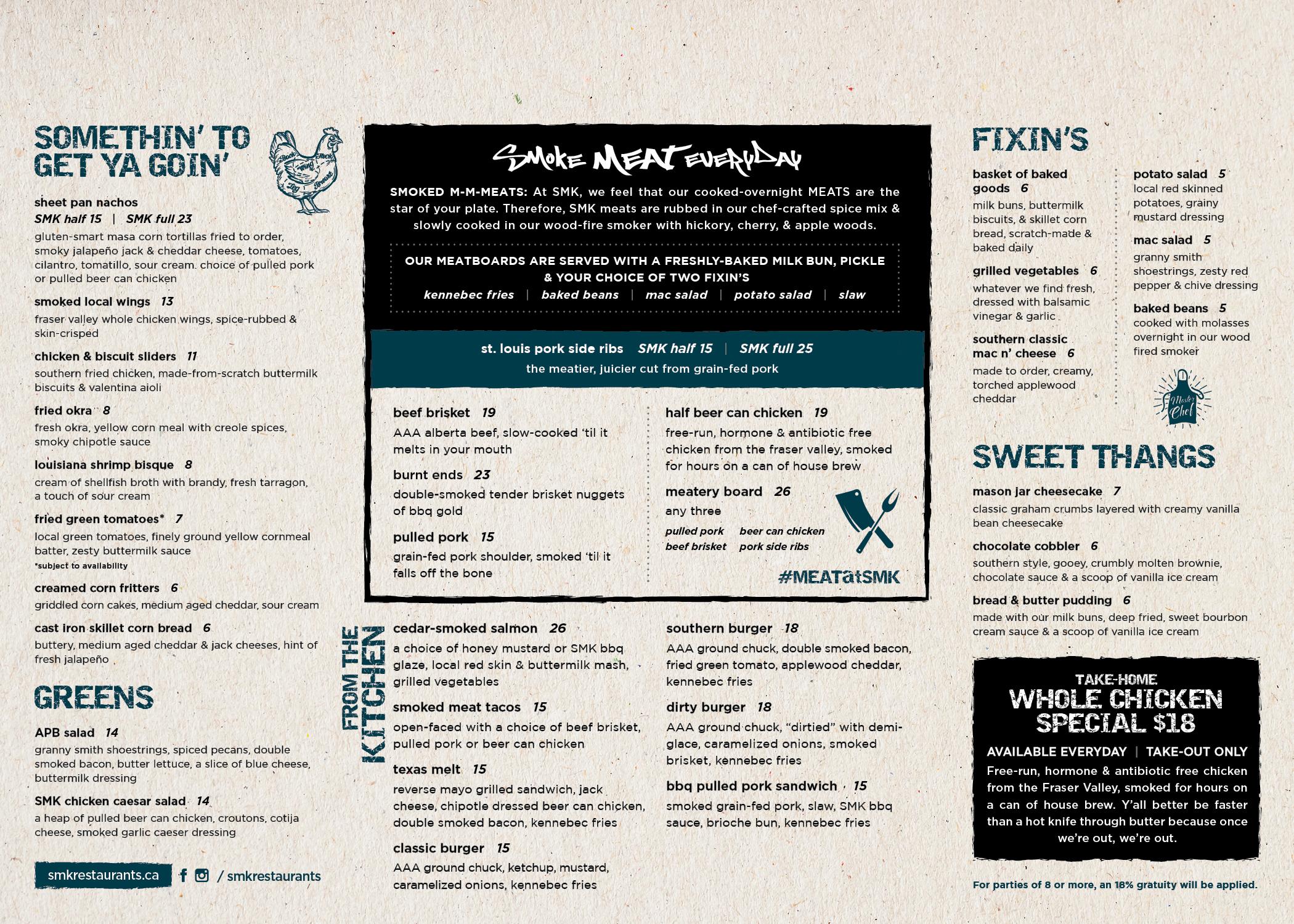 SMK Food Menu | April 2019