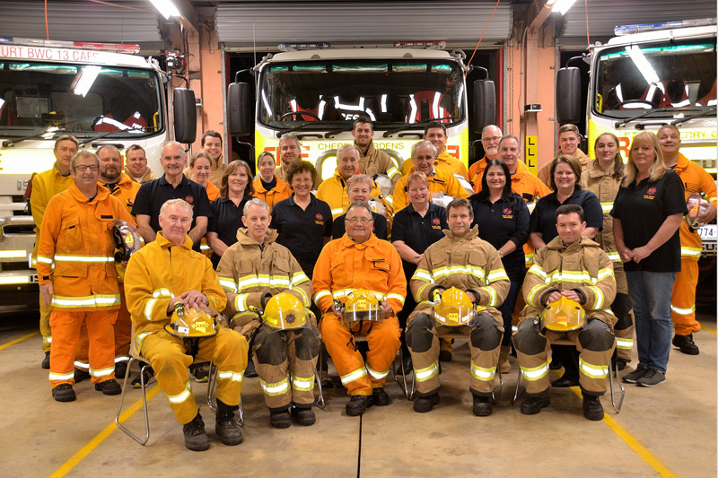 Cherry Gardens CFS brigade - Becoming a member of the CFS gives you the opportunity to challenge yourself by learning new skills and along the way work and train with a great group of people.