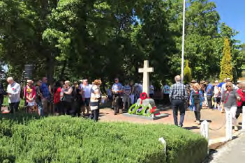 First Remembrance Day service in Cherry Gardens - 11 November 2018