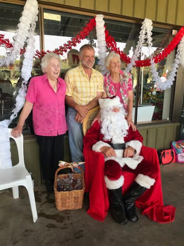 Santa and his helpers