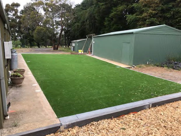 The new multipurpose play area at back of clubrooms