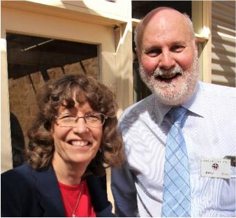 Dr Palmer and Darryl Dyson