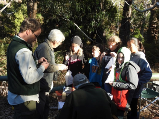 It was great to get lots of younger people along to bird banding in March.