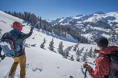 back country skiing winter getaway ouray colorado
