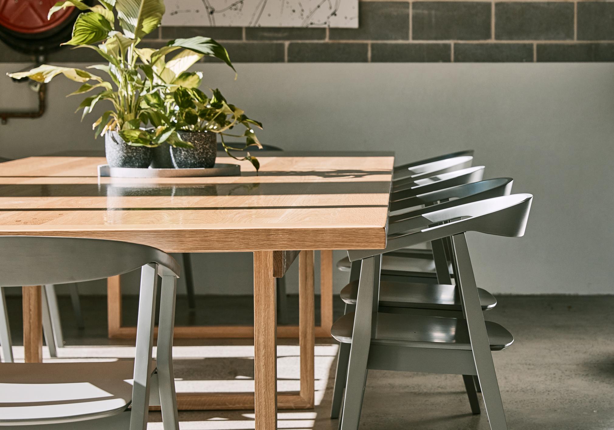 American oak commune table - Custom designed / created table