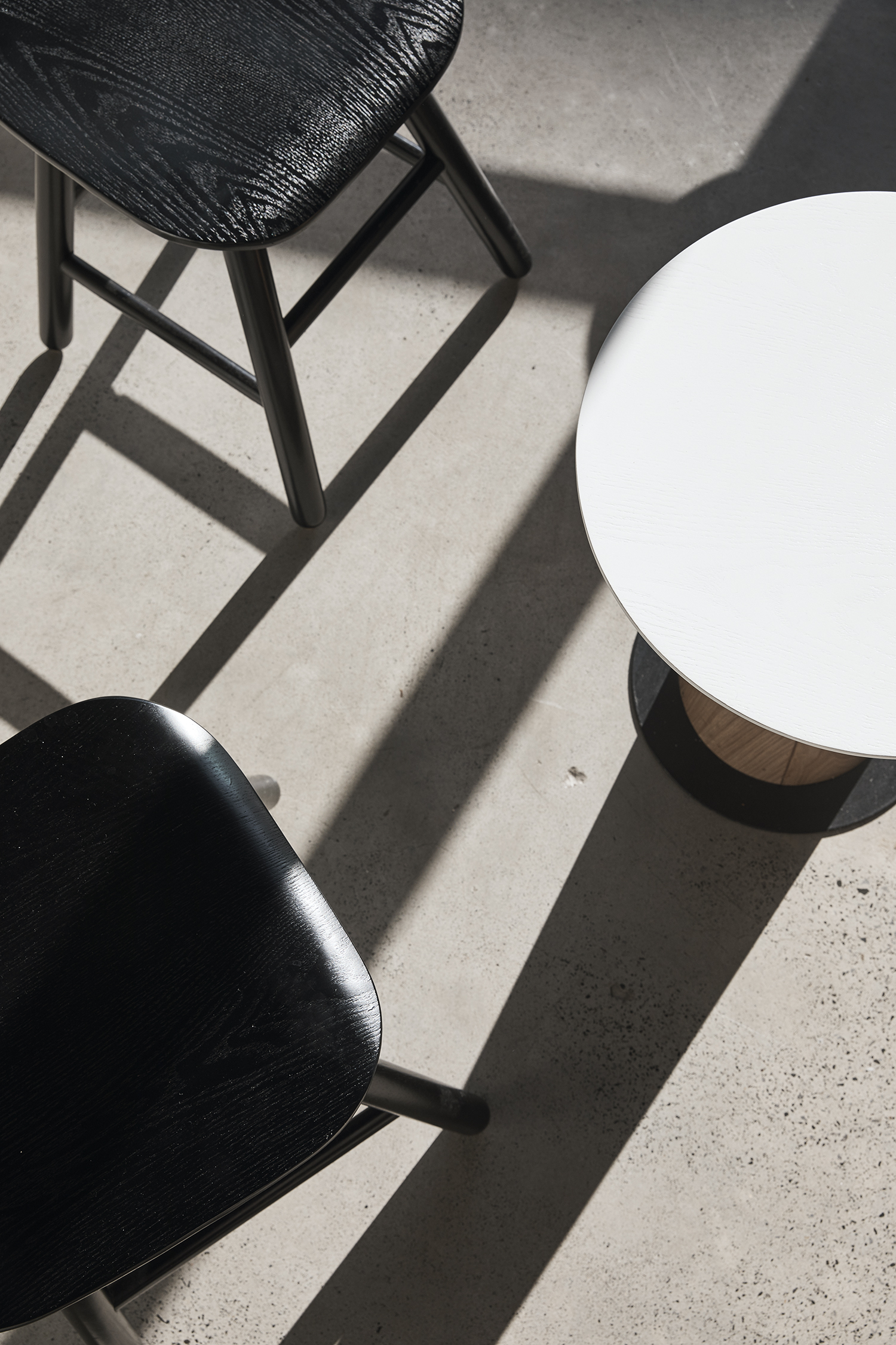 Mushroom stools and table
