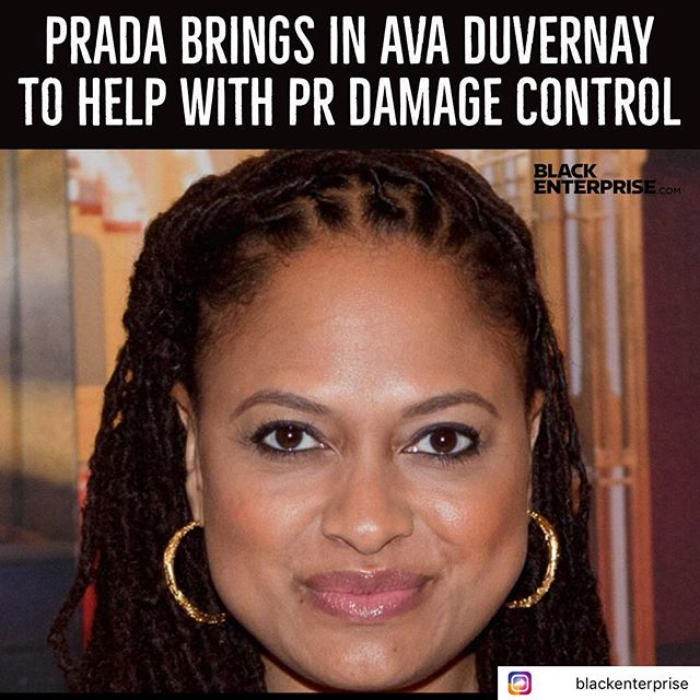 """After facing recent backlash over selling monkey-face keychains that many saw as an emulating historically racist blackface, Prada is attempting to do public relations damage control by aligning itself with one of Hollywood's most powerful black women, Ava Duvernay. In a press release, Prada Group announced Saturday that Duvernay ""will co-chair the Prada Diversity and Inclusion Advisory Council to elevate voices of color within the company and the fashion industry."" @blackenterprise @ava"