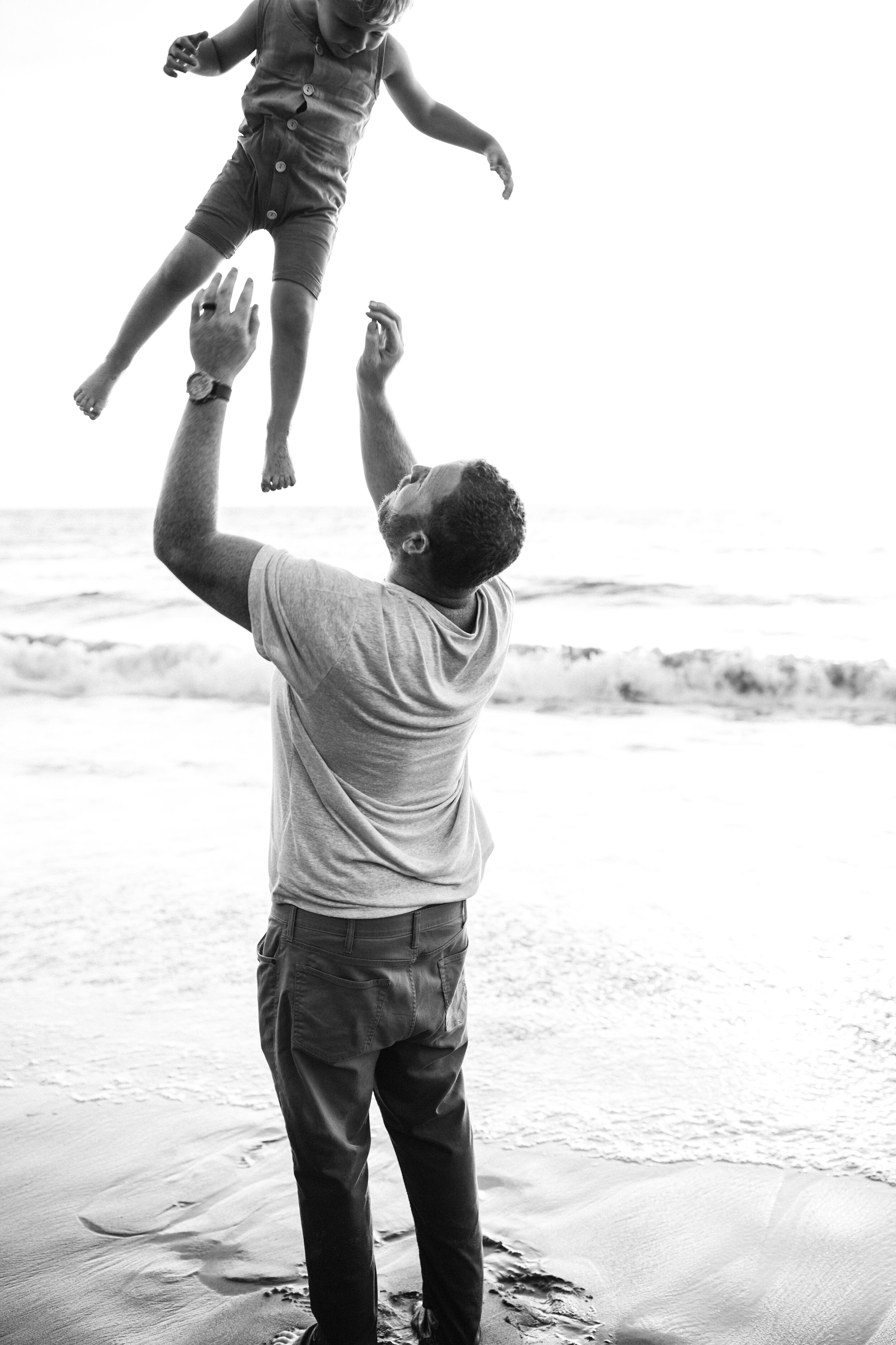 throwing son in the air photoshoot