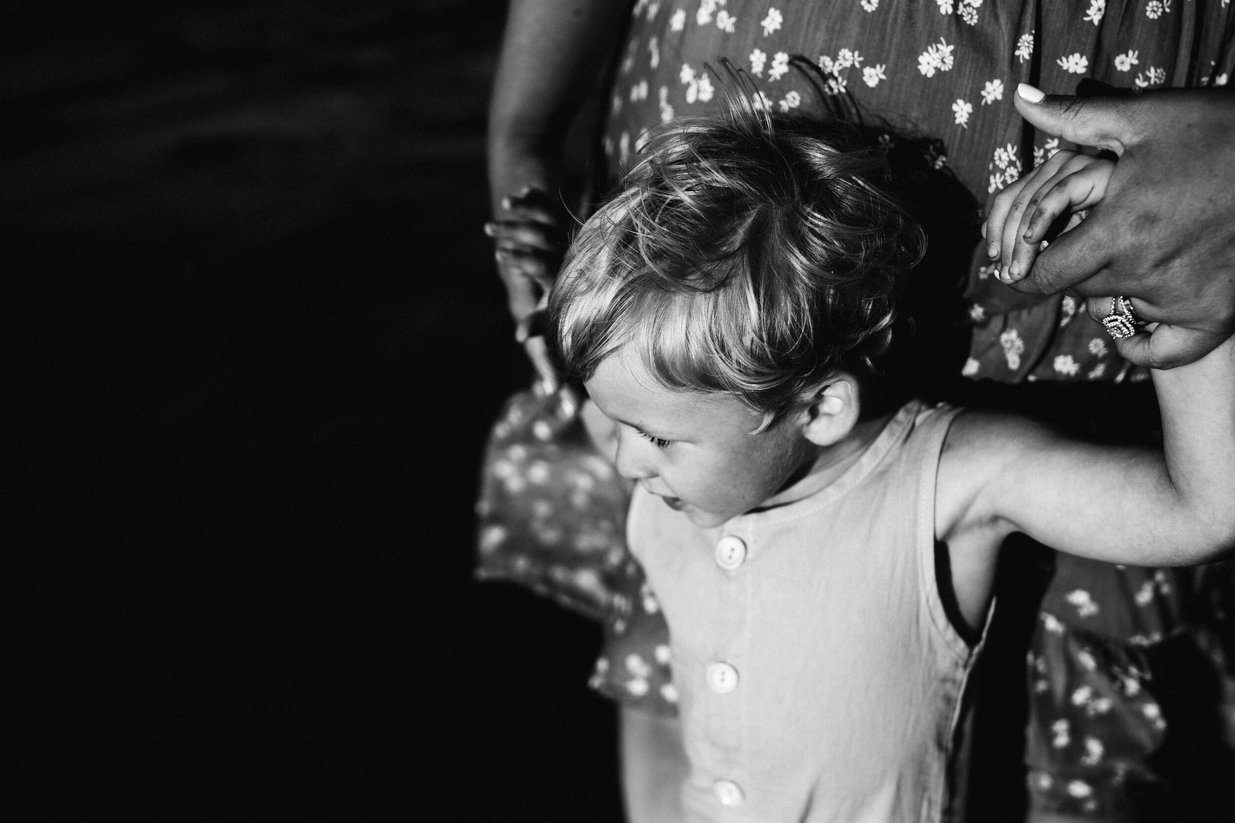 mother and son holding hands - Lindsay Petty Photography