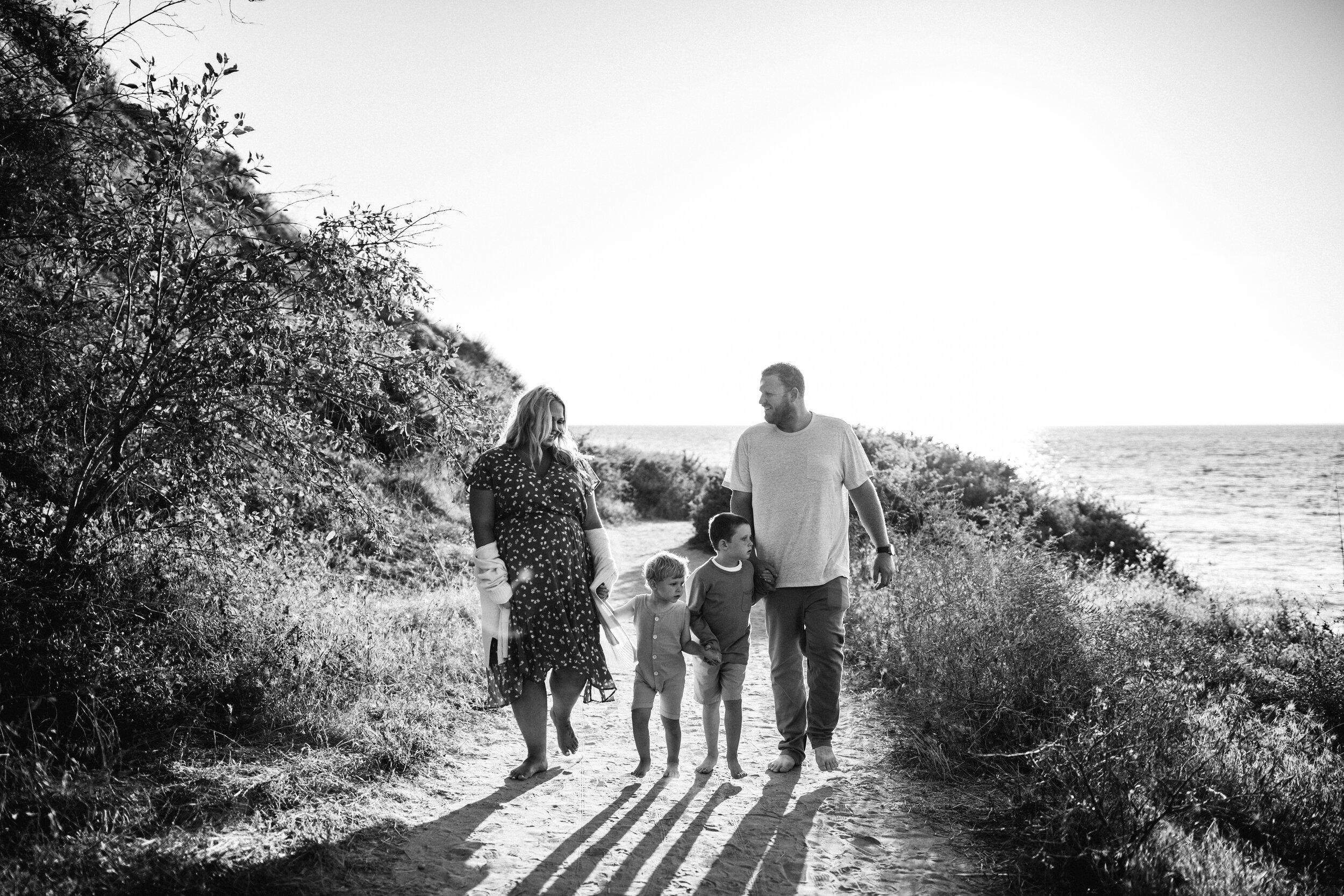 family walking on beach - Lindsay Petty Photography
