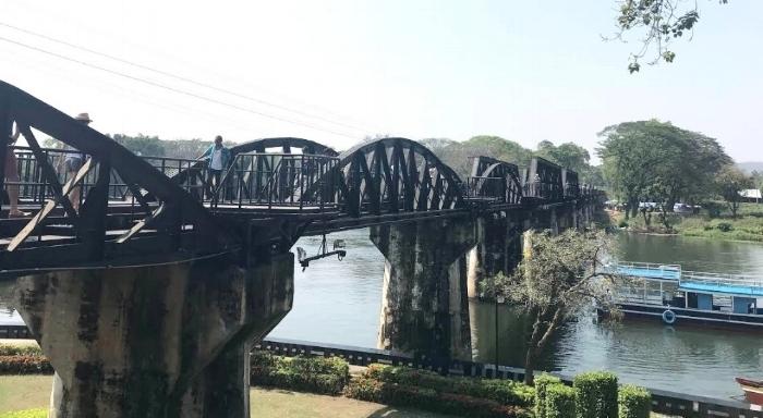 Bridge Over the River Kwai, Kanchanaburi,Thailand