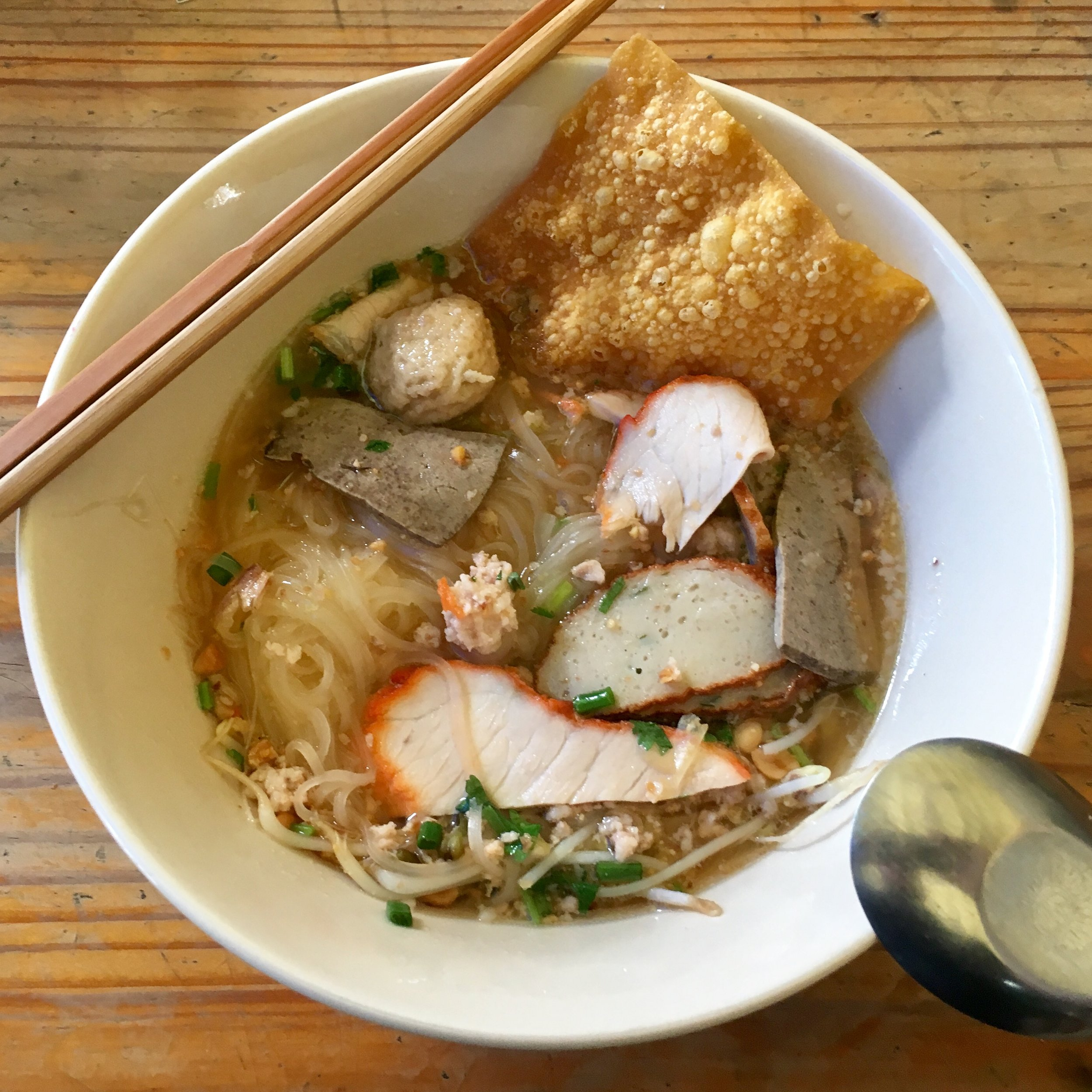 """Like the best ever Thai noodle soup from a """"secret"""" spot in Chachoengsao, Thailand"""