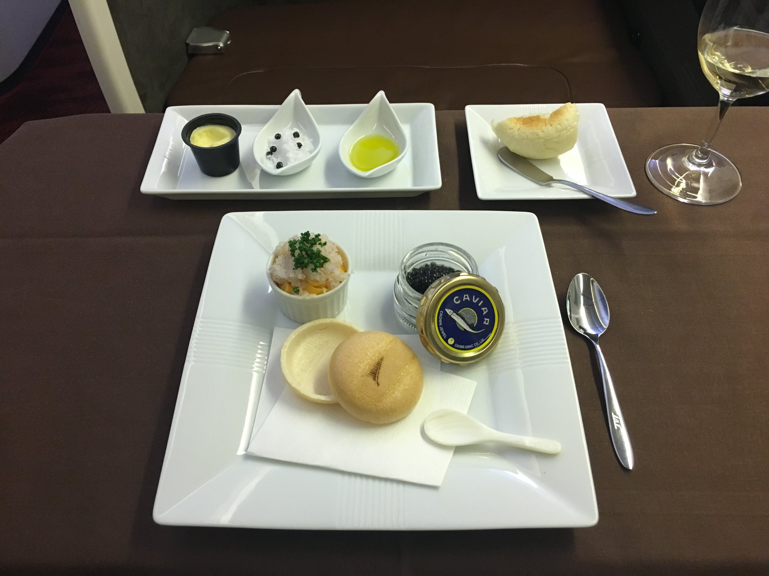 The caviar course was obviously quite an indulgent treat especially when paired with the Cristal… It was also kind of fun to work out how to assemble the egg yolk cream, caviar, and wafers.