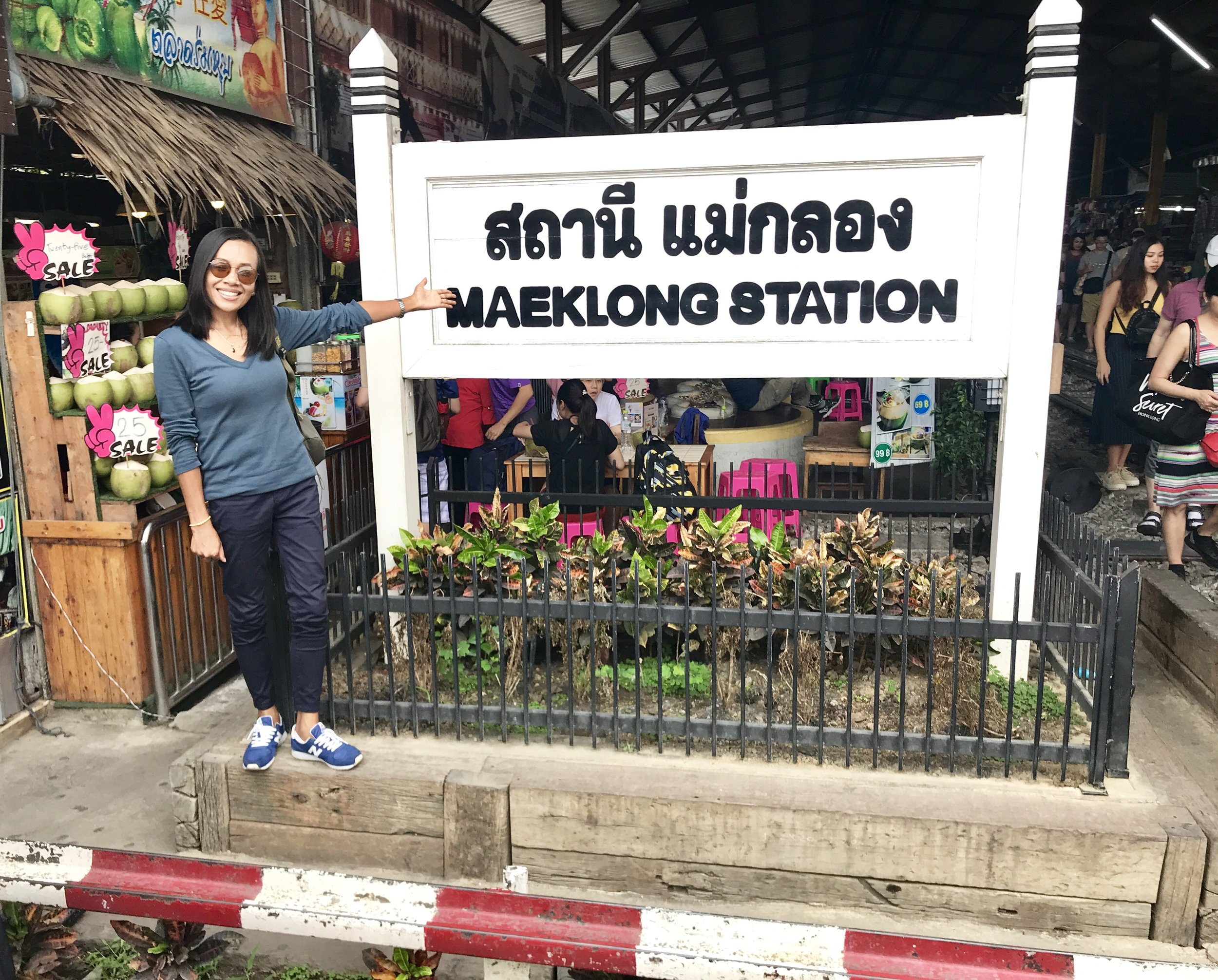 At Maeklong Railway Market in Samut Songkhram, Thailand