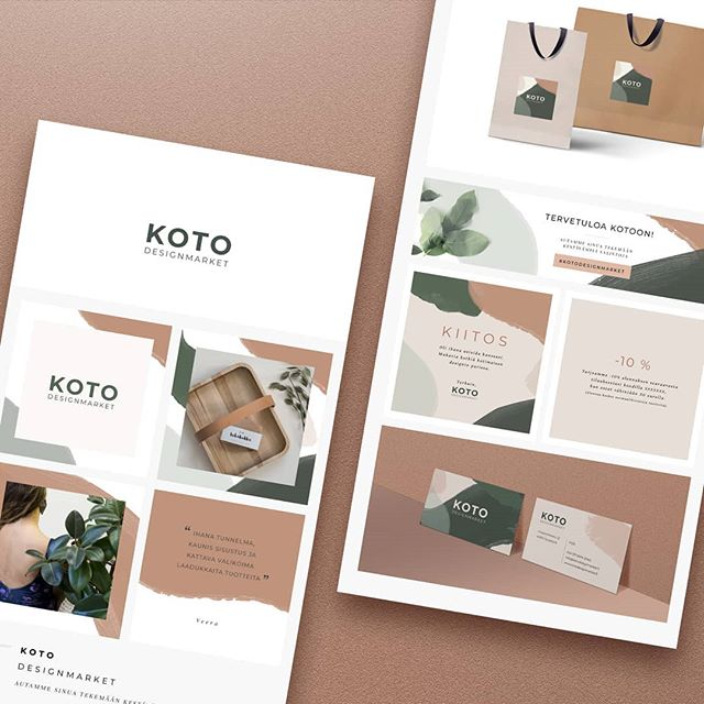 Koto Designmarket materiaalia  #graphicdesign #visualidentitydesign