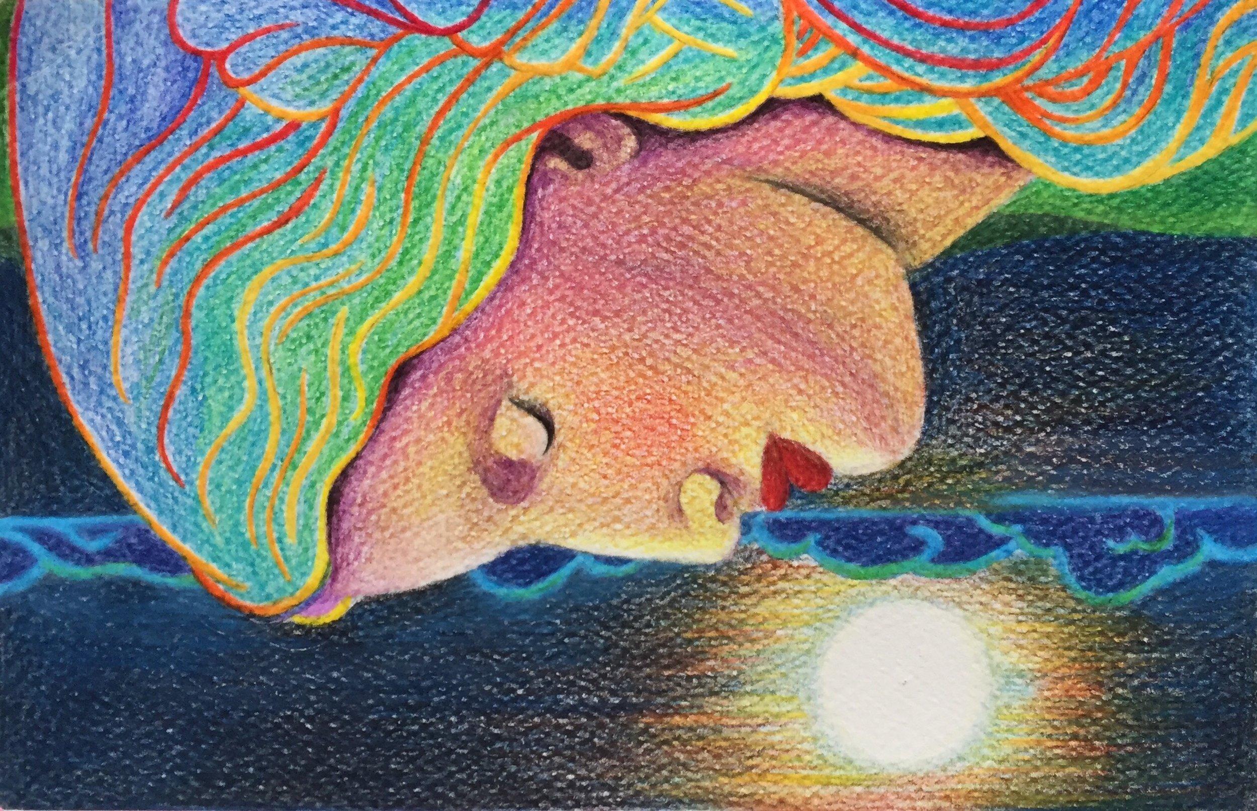 a lady in sleep drawing.JPG
