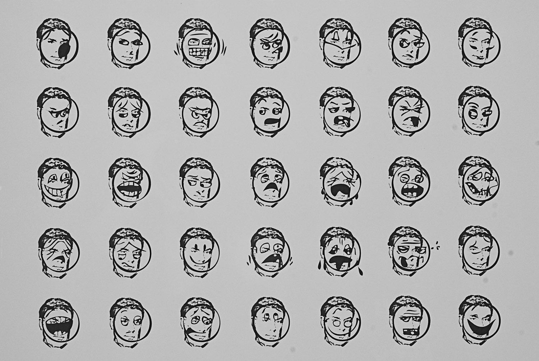 Smiley-Face Feelings Guide (detail)
