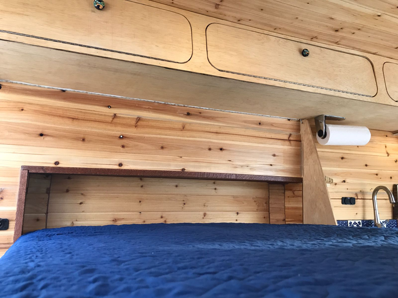 Sustainable wood storage for custom van conversion