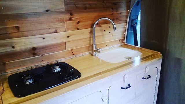 New kitchen for my friend @thedoughnutdiary  #vanlife #promaster #sprinter #transit #vans #vanconversion #vanliving