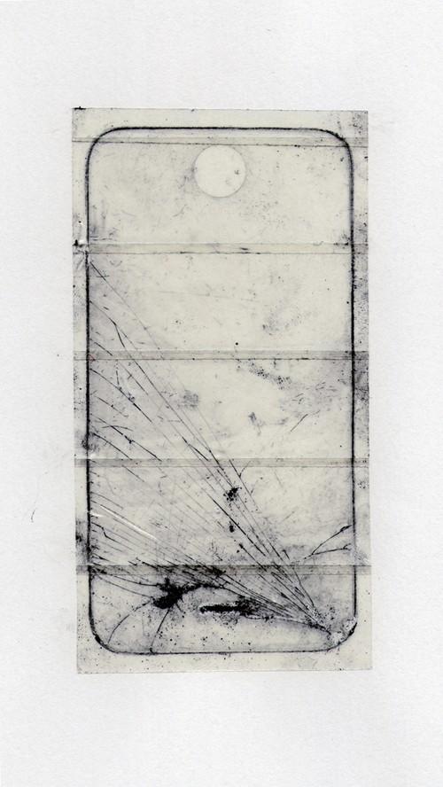 Graphograph  Graphite, sellotape, iPhone; 2015