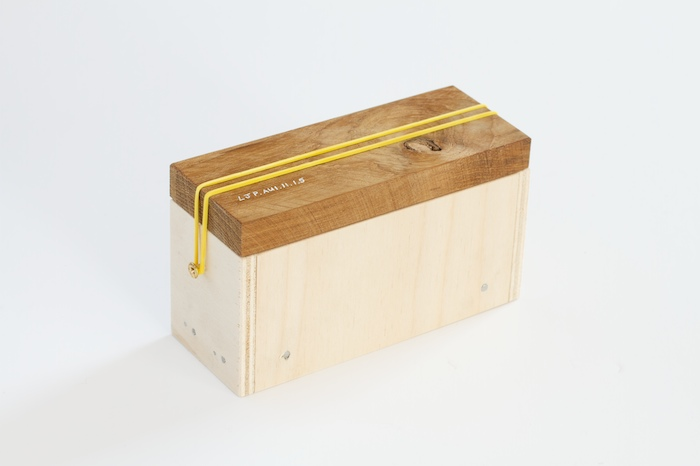 Incomplete Archive [8 of 25 boxes]  Timber offcuts, elastic bands, screws; contents variable; 2011