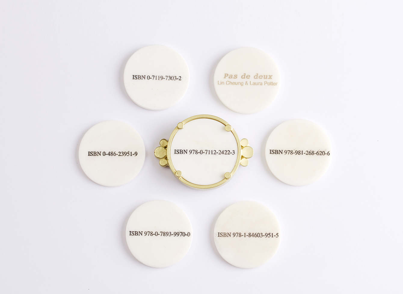 Vignettes [mima's Brooch]  Gold, bone