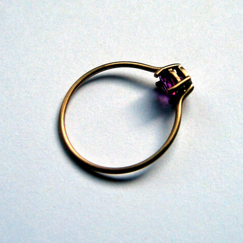 Upset Ring  Gold, tourmaline; 2005