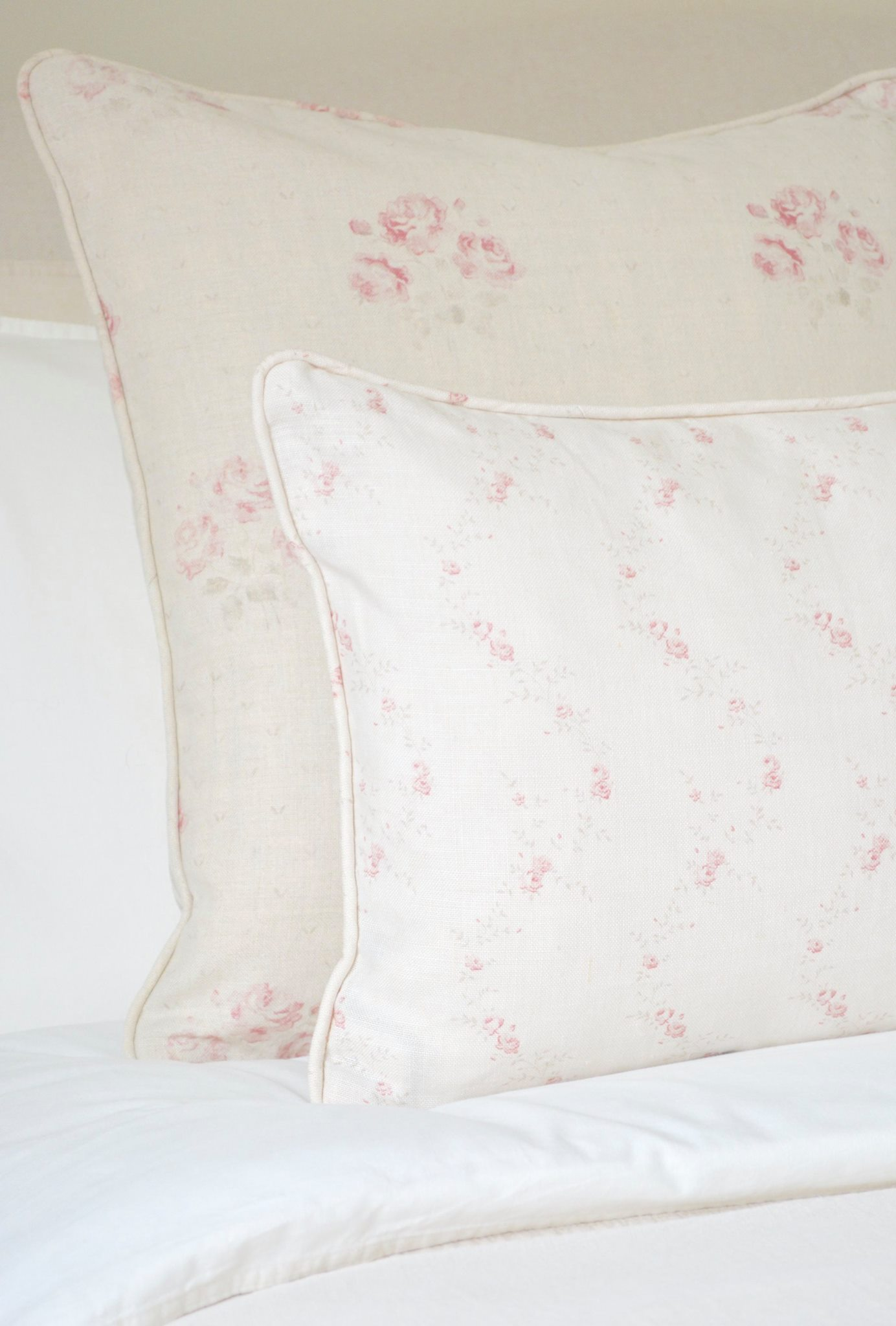 Cottage Bedroom with faded floral linens designed by www.hlinteriors.co.uk13.jpg