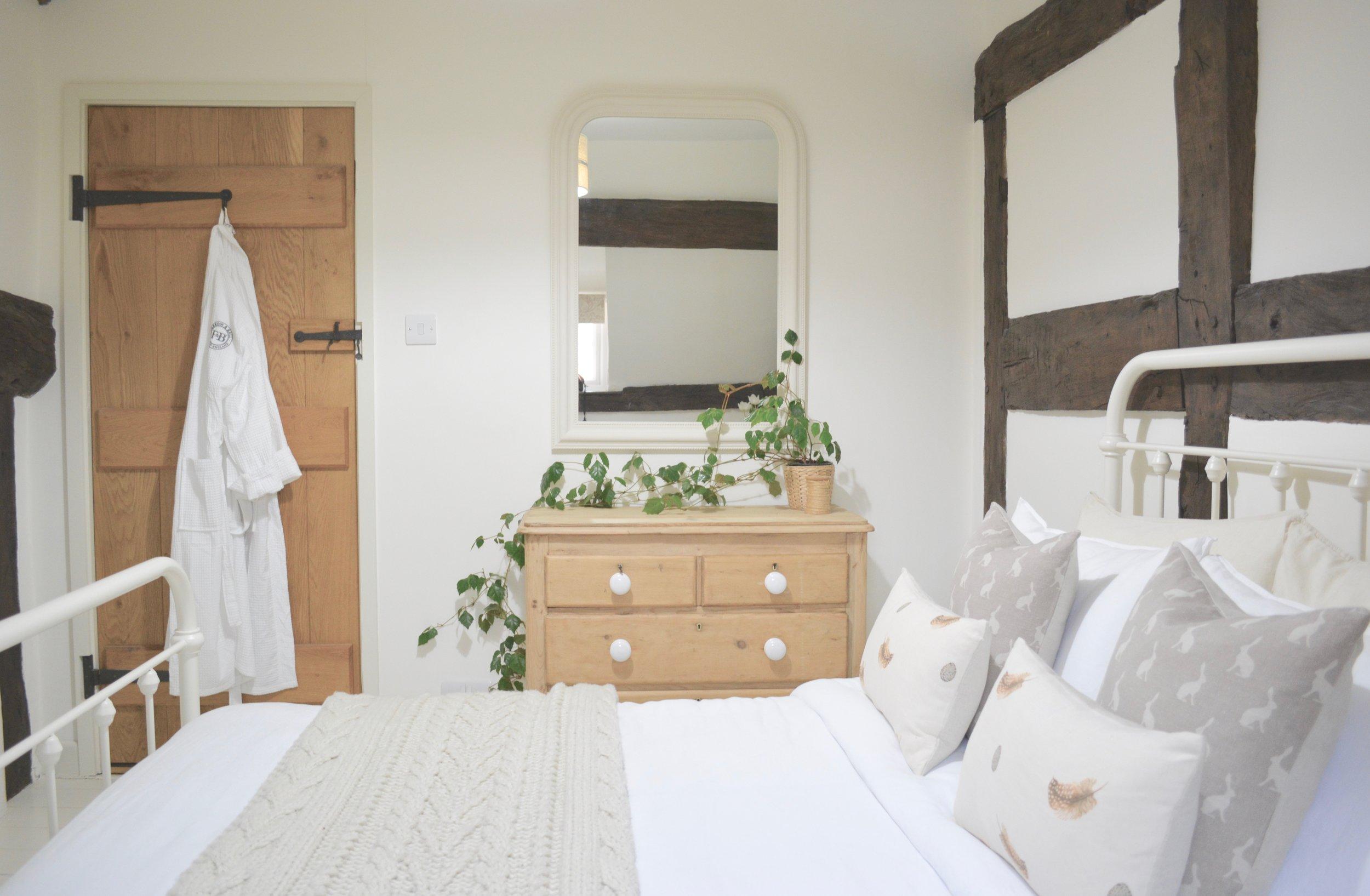 Black & White Cottage Bedroom - See more
