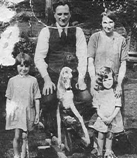 Grace, her sister Bunty and their parents Robert  and Janet