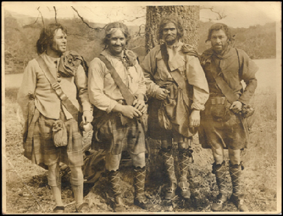 MacGregor clansmen for a day! Hans Pieper, Wilf Luke, Dinah Shaw, Duncan Smith